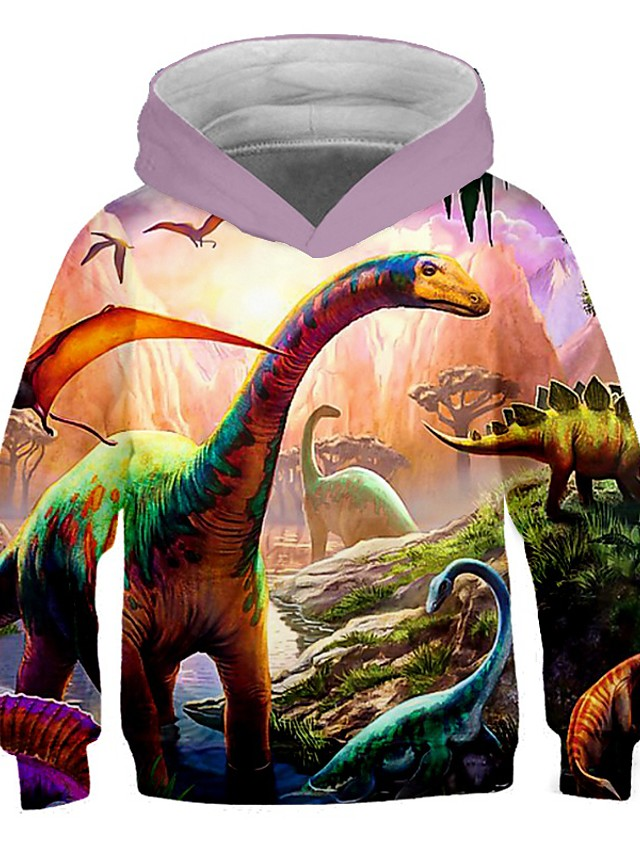 pojkar flickor 3d-tryck grafiska tröjor långärmade tröjor med dragkedja med ficka 3-16 år
