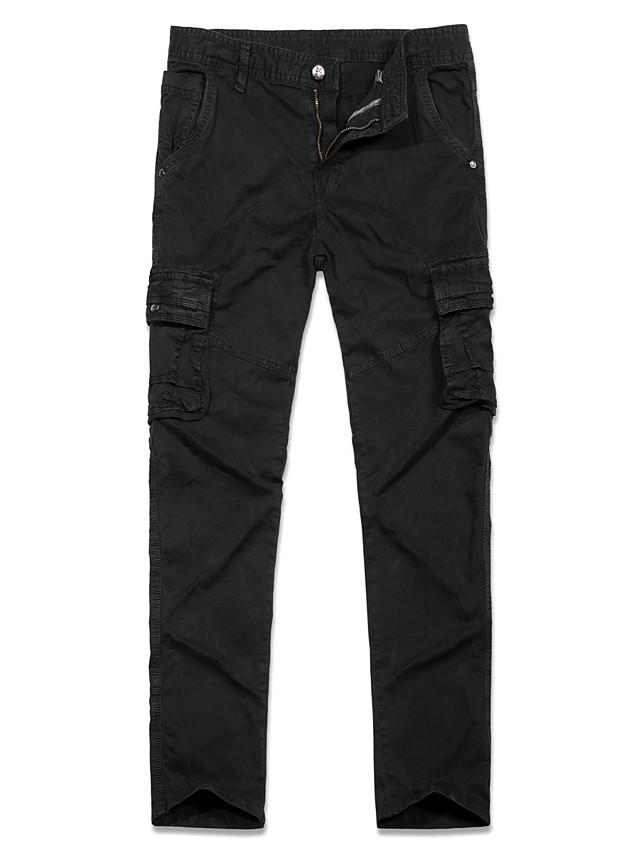 Hombre Militar Pitillo Chinos Pantalones Tipo Cargo Pantalones Color Camuflaje Un Color Longitud Total Deportivo Negro Caqui Verde Trebol 7743951 2021 43 99