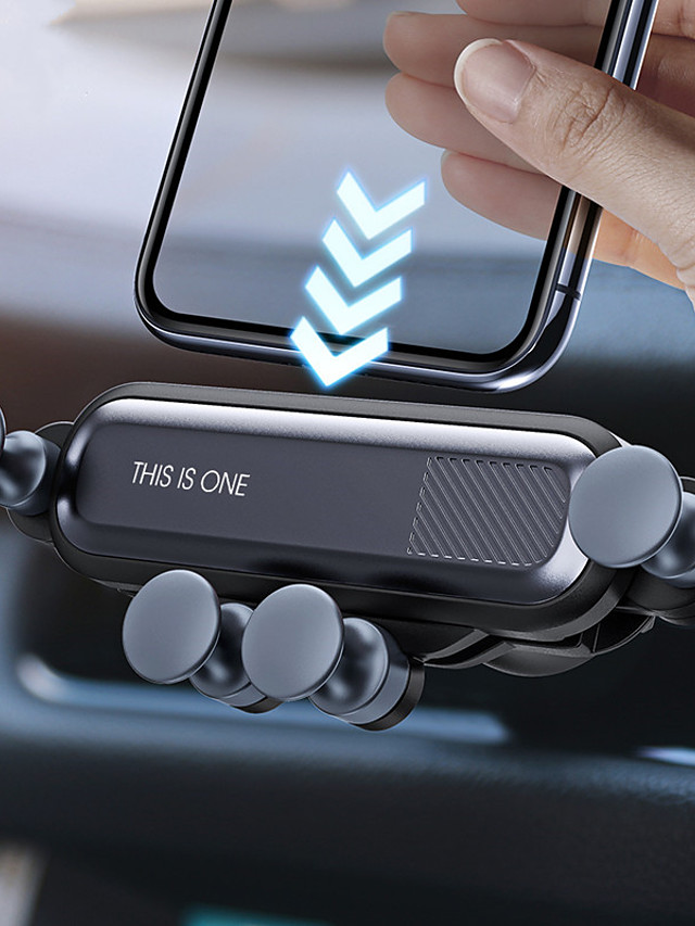 Gravity Car Holder Phone in Car Air Vent Clip Mount No Magnetic Mobile Phone Holder GPS Stand for iPhone 11  Huawei P30 Samsung Note 10 Xiaomi CC9