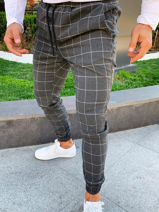 Hombre Basico Chinos Pantalones Cuadros A Cuadros Negro Gris Oscuro Azul Marino Us32 Uk32 Eu40 Us36 Uk36 Eu44 Us38 Uk38 Eu46 7730546 2021 17 59
