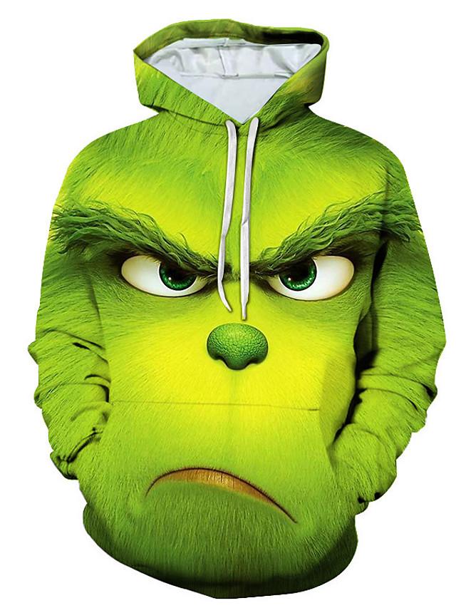 Herre Hattetrøje 3D Hætte Basale Hættetrøjer Sweatshirts Grøn