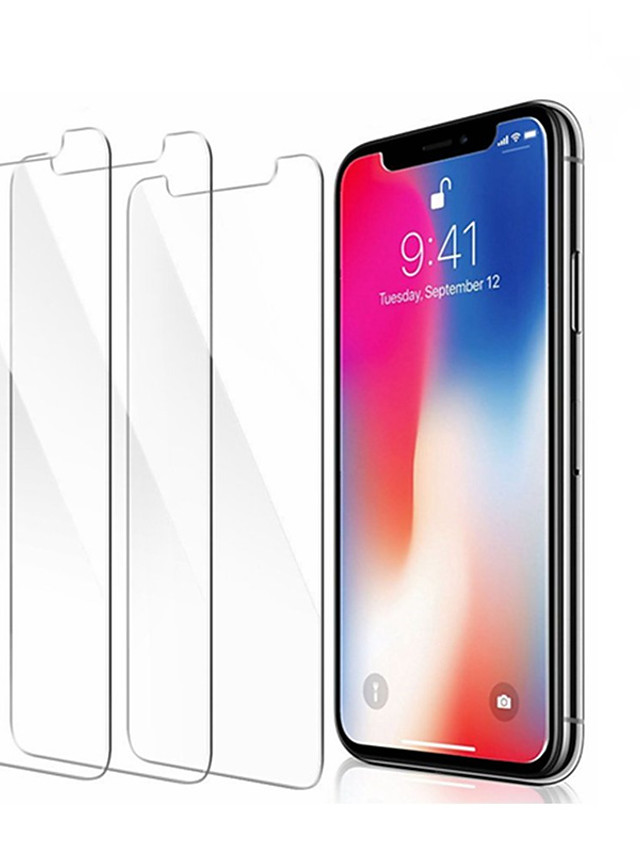 Glass Screen Protector Designed for iPhone 11 and iPhone XR X XS Max (3-Pack) Tempered Glass with Touch Accurate/Impact Absorb - 3 Pack