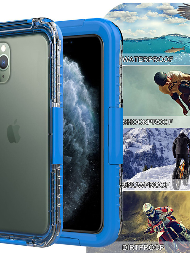 Professional Waterproof Bag Case for Iphone 11/11 Pro/11 Pro Max/X XS/XR/XS MAX/7 8 Plus IP68 WaterProof Swimming Diving 30M Outdoor Sports