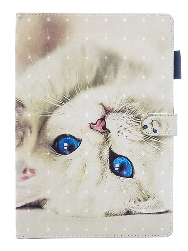 Case For Apple iPad Air / iPad 4/3/2 / iPad (2018) with Stand / Flip / Pattern Full Body Cases Cat PU Leather