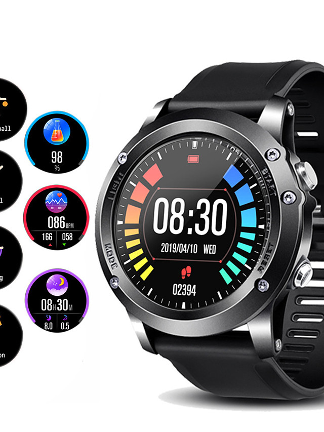 Couple's Smartwatch Digital Stylish Silicone Black / Red / Orange 30 m GPS Heart Rate Monitor Bluetooth Digital Fashion - Black Black / Silver Orange One Year Battery Life