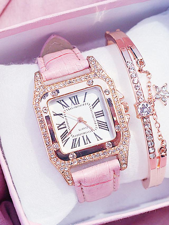 Women's Quartz Watches Analog Quartz Elegant Chronograph Cute Adorable / One Year / PU Leather