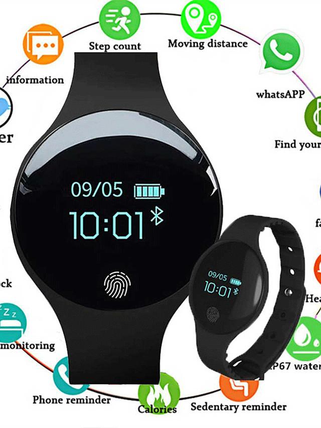 Smartwatch Digital Luxury Water Resistant / Waterproof Silicone Digital - Black Blue Pink / Calendar / date / day