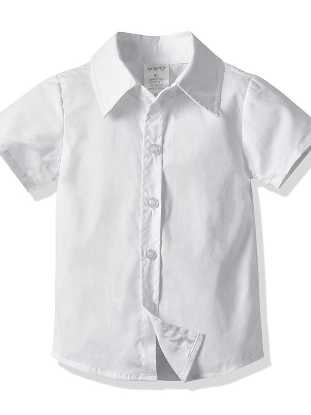子供 幼児 男の子 Tシャツ シャツ 半袖 ソリッド ホワイト ブルー ピンク 子供達 トップの 夏 ベーシック ストリートファッション