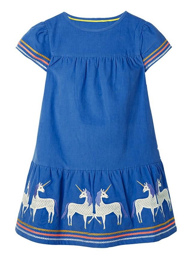 Kids Girls' Animal Dress Blue