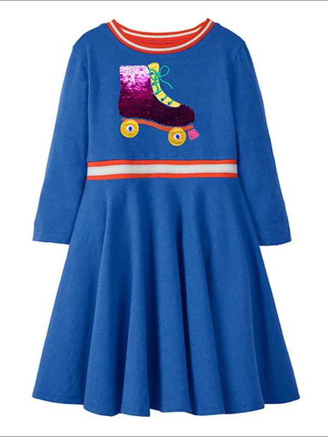 Kids Girls' Color Block Dress Blue
