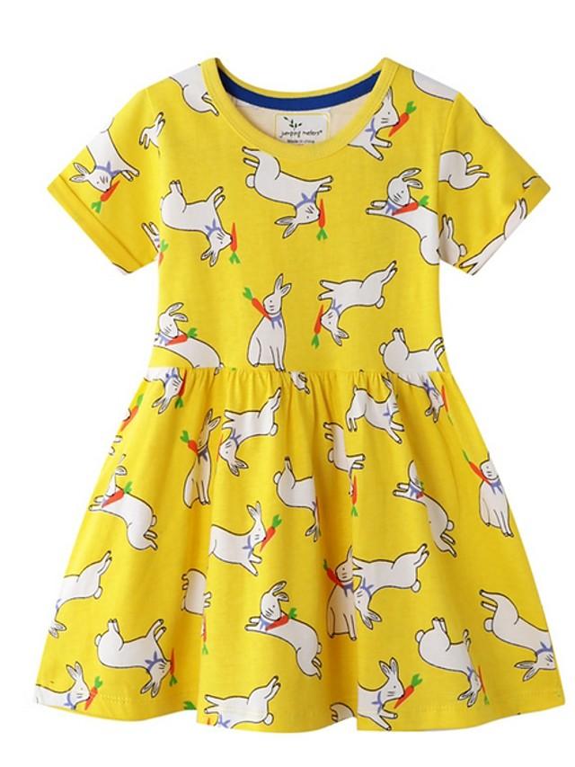 Kids Girls' Animal Dress Yellow