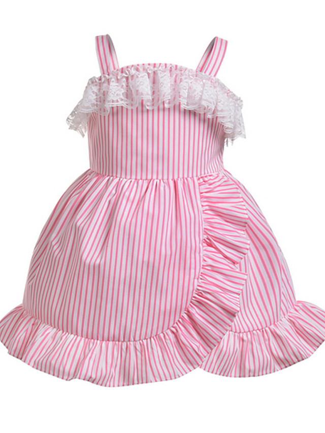 Kids Girls' Striped Dress Blushing Pink