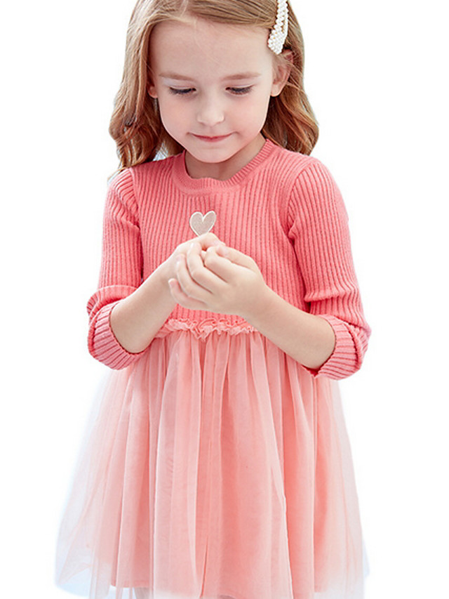 Kids Girls' Color Block Dress White