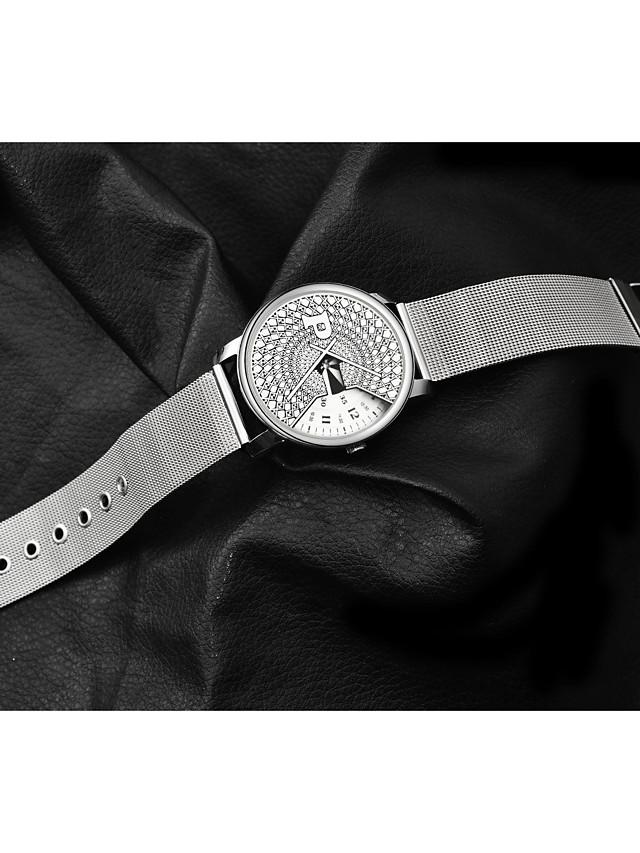 Women's Quartz Watches Fashion White Alloy Chinese Quartz White Black Casual Watch 1 pc Analog One Year Battery Life