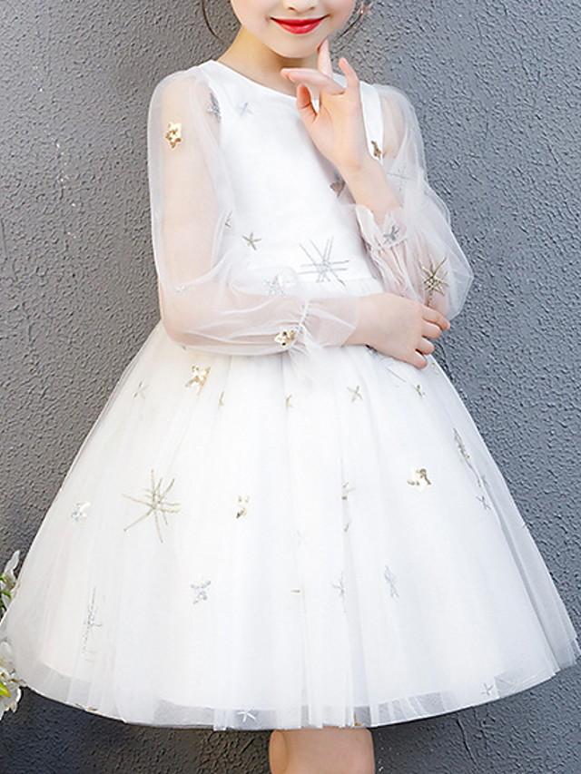 Kids Girls' Cartoon Dress White