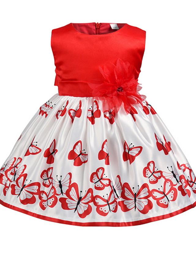 Kids Girls' Color Block Dress Red