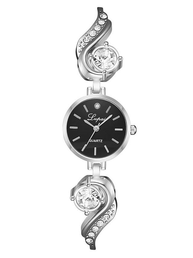 Women's Quartz Watches Fashion Silver Rose Gold Alloy Chinese Quartz Black Golden+Black Golden+White Casual Watch 1 pc Analog One Year Battery Life