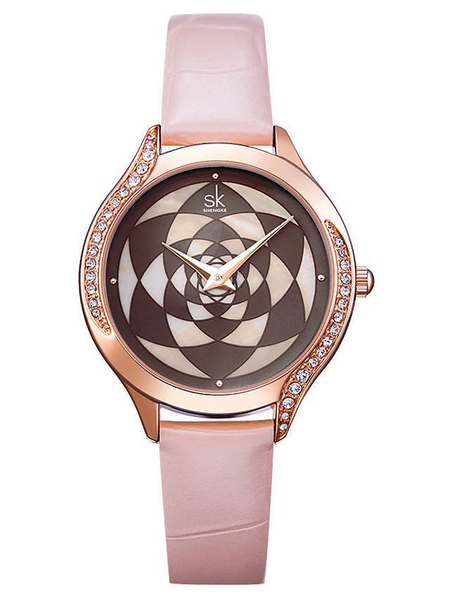 Women's Quartz Watches Luxury Fashion Stainless Steel Japanese Quartz Blushing Pink Black Water Resistant / Waterproof 30 m 1 pc Analog One Year Battery Life