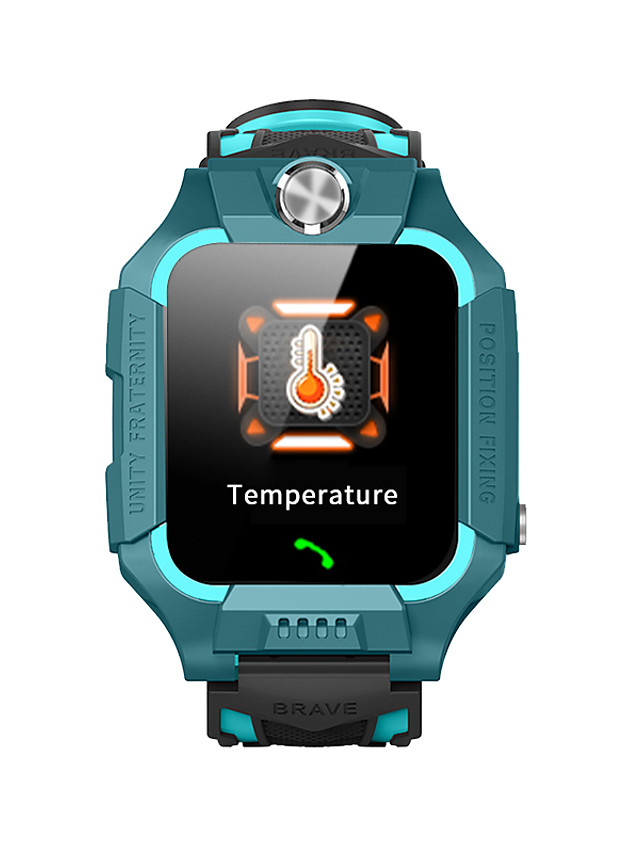 Z6C Kids Smartwatch Thermometer Android iOS Bluetooth Touch Screen GPS Sports Long Standby Thermometer Call Reminder Alarm Clock Temperature Display