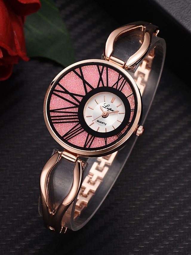 Women's Quartz Watches Fashion Silver Rose Gold Alloy Chinese Quartz Golden+Black Golden+White White+Pink Adorable 1 pc Analog One Year Battery Life