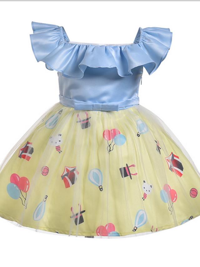 Kids Girls' Color Block Dress Light Blue
