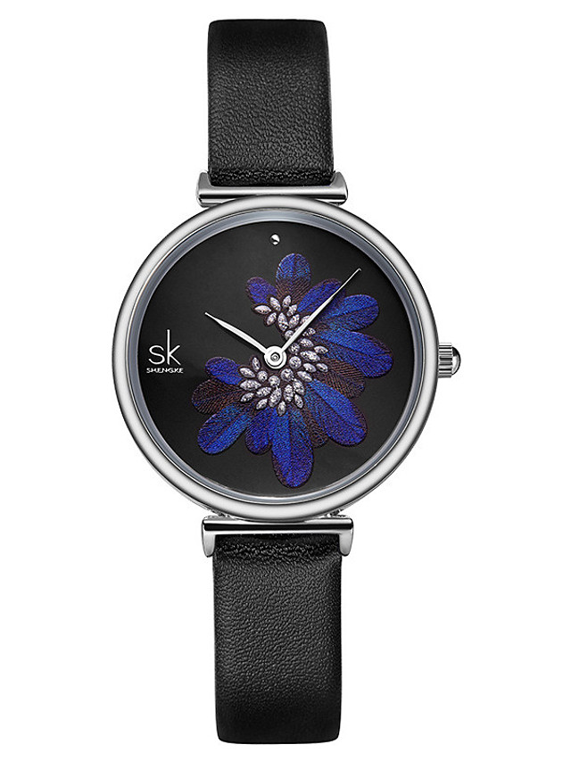Women's Quartz Watches Classic Fashion Genuine Leather Japanese Quartz Blue Black Water Resistant / Waterproof 30 m 1 pc Analog One Year Battery Life