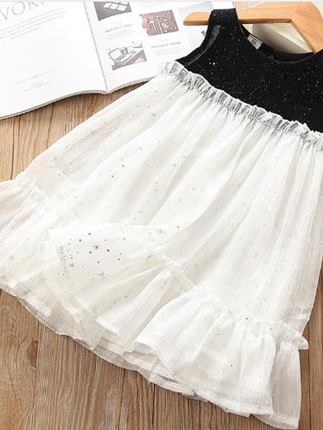 Toddler Girls' Galaxy Dress White
