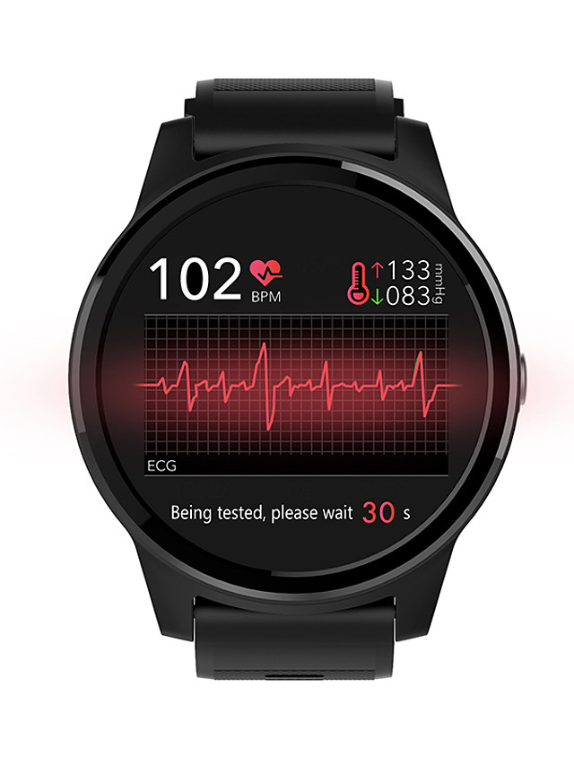NORTH EDGE E101 Unisex Smartwatch Bluetooth Touch Screen Heart Rate Monitor Blood Pressure Measurement Calories Burned Information ECG+PPG Pedometer Call Reminder Sleep Tracker Sedentary Reminder