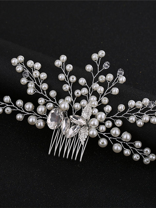 Simple Style Imitation Pearl / Alloy Hair Combs with Crystal / Sparkling Glitter / Glitter 1 pc Wedding / Birthday Headpiece