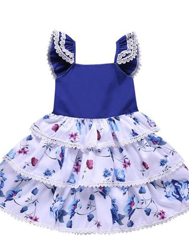 Toddler Girls' Floral Dress Blue