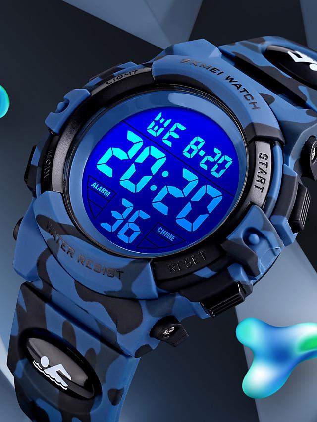 SKMEI Kids Digital Watch Digital Quartz Modern Style Sporty Fashion Alarm Calendar / date / day Chronograph / One Year / Silicone