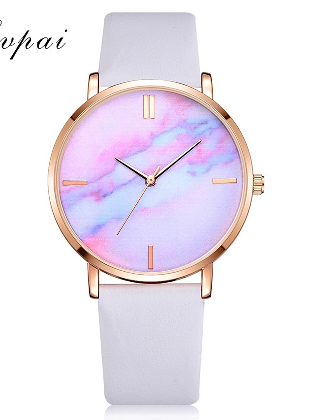 Women's Quartz Watches Quartz Stylish Fashion Adorable Analog White Black Blue / One Year / PU Leather / One Year