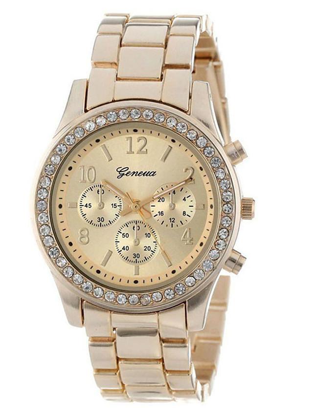 Women's Quartz Watches Elegant Colorful White Gold Blushing Pink Alloy Chinese Quartz White Blushing Pink Light Gold Dual Time Zones 1 pc Analog One Year Battery Life