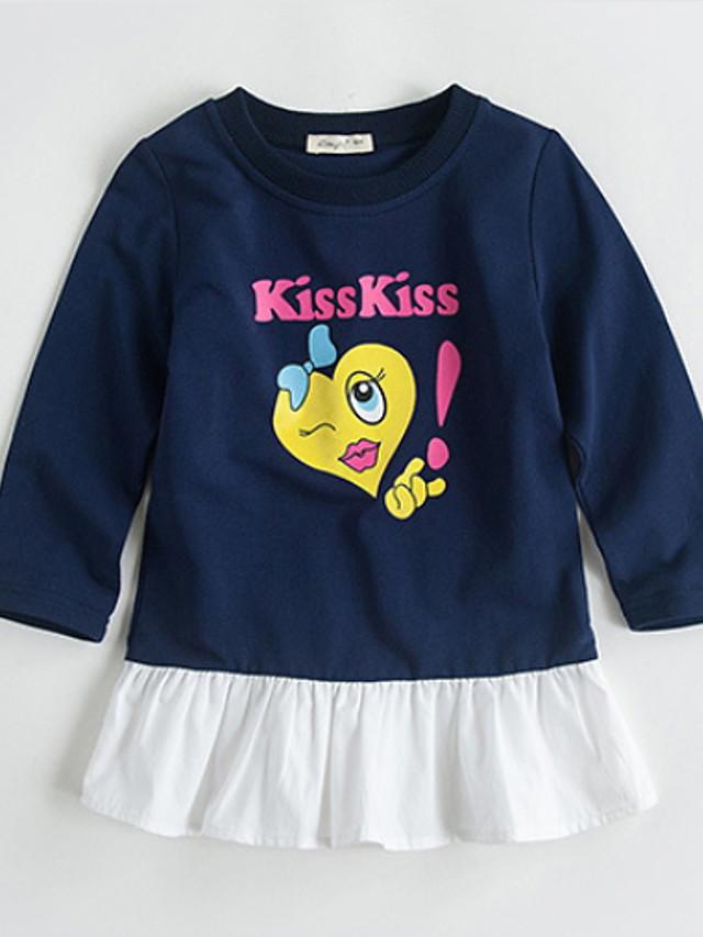 Kids Girls' Color Block Dress Navy Blue