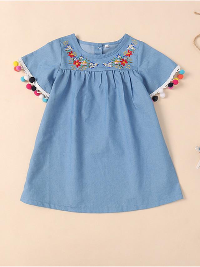 Kids Girls' Floral Dress Blue