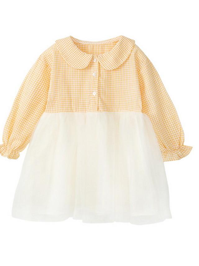 Toddler Girls' Color Block Plaid Dress Blushing Pink