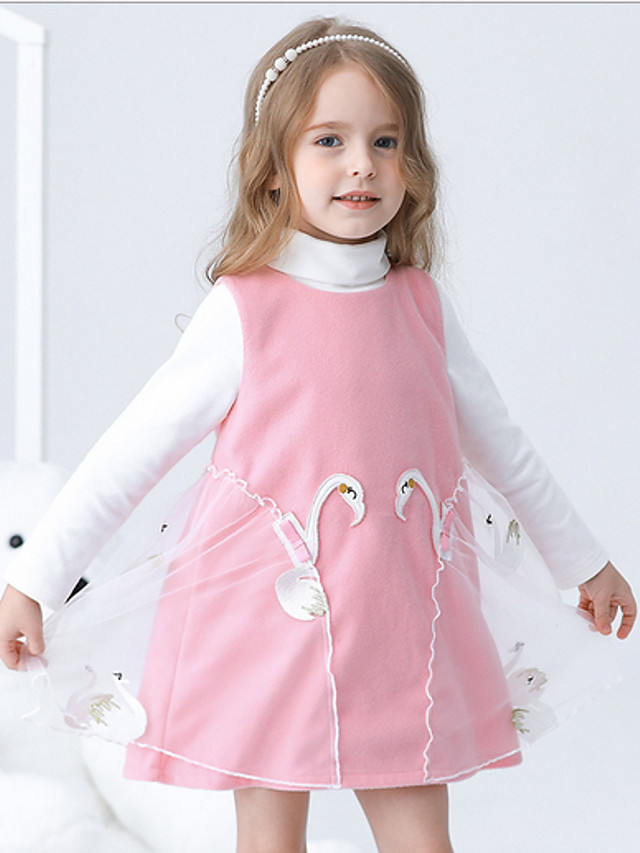 Kids Girls' Solid Colored Dress Blushing Pink