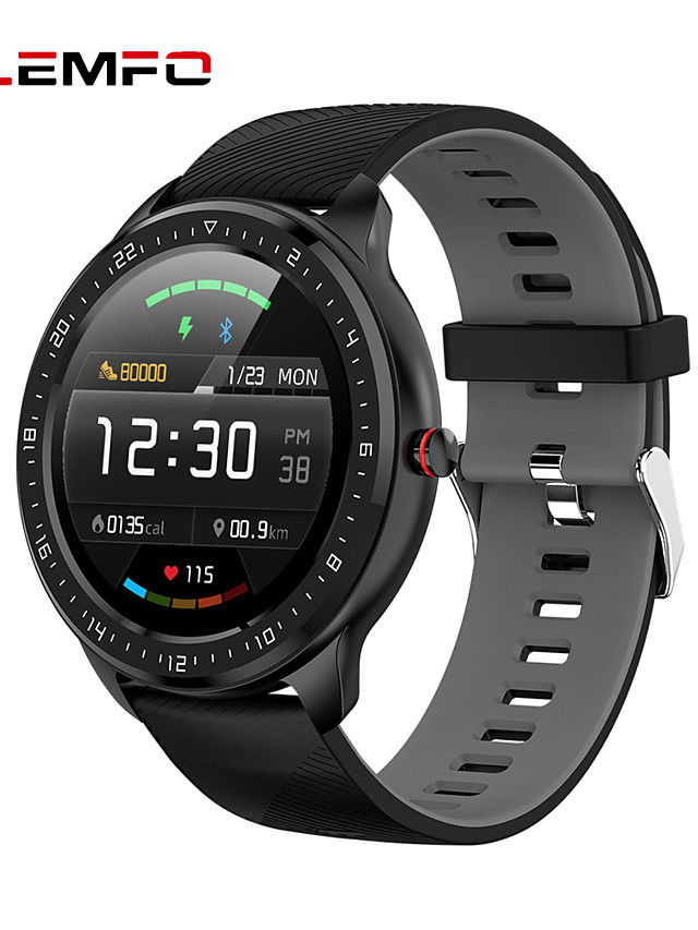 LEMFO Z06 Unisex Smartwatch Android iOS Bluetooth Waterproof Heart Rate Monitor Blood Pressure Measurement Distance Tracking Information Pedometer Call Reminder Activity Tracker Sleep Tracker