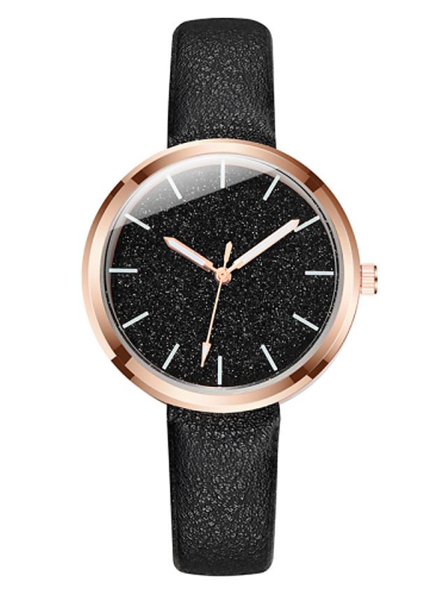 Women's Quartz Watches Fashion Black Blue Pink PU Leather Chinese Quartz Blushing Pink Blue Black Casual Watch 1 pc Analog One Year Battery Life