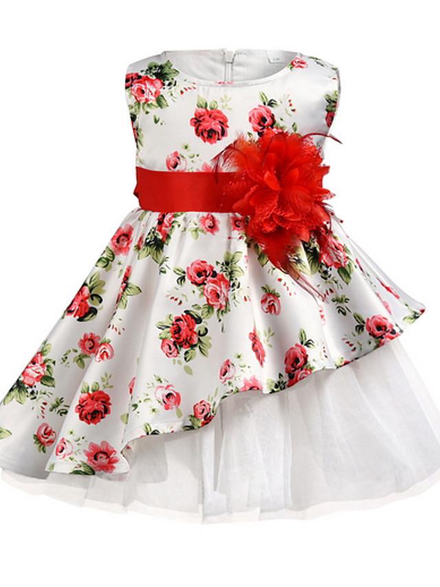 Kids Girls' Floral Dress White