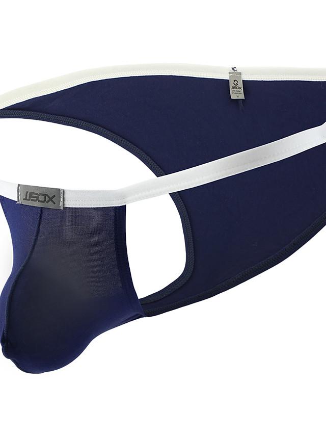 Men's Basic Briefs Underwear - Normal Low Waist Black White Yellow M L XL