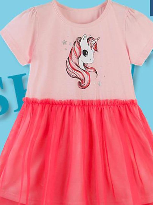 Kids Girls' Cartoon Dress Blushing Pink