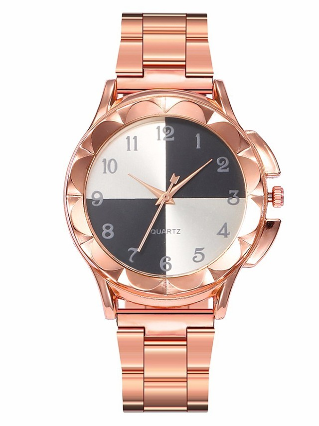 Women's Quartz Watches Fashion Colorful Rose Gold Alloy Chinese Quartz Black White Blushing Pink Casual Watch 1 pc Analog One Year Battery Life