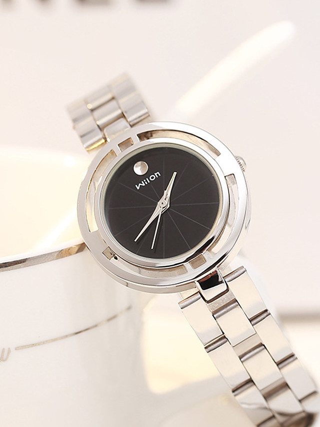 Women's Quartz Watches Classic Fashion Black Silver Alloy Japanese Quartz Black Silver Silvery / White Water Resistant / Waterproof Adorable 1 pc Analog One Year Battery Life