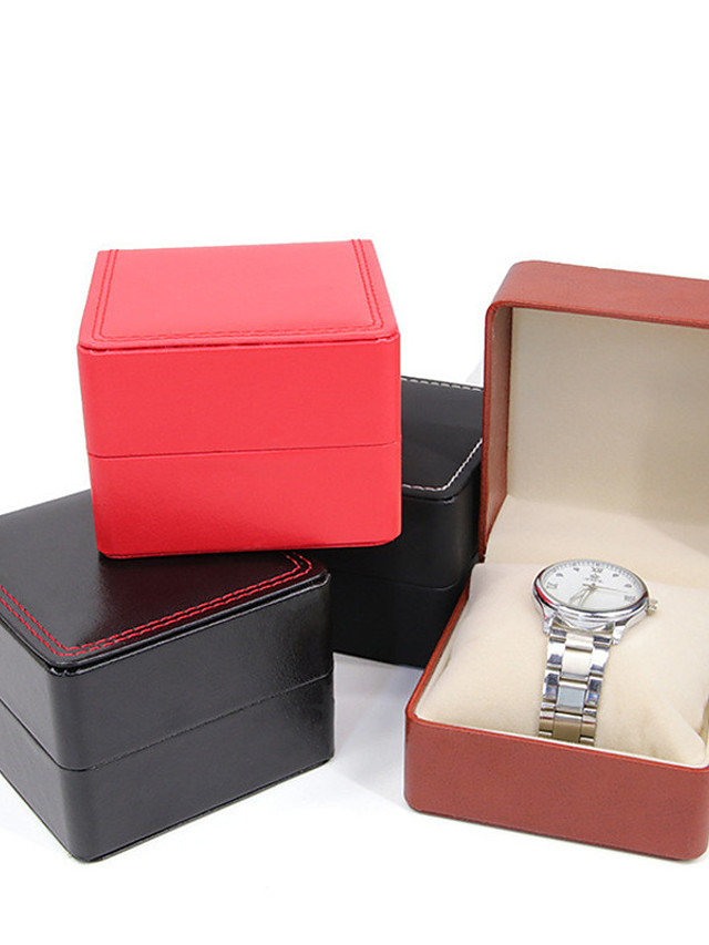 Watch Display Stand Watch Boxes Leather 8 cm 9 cm