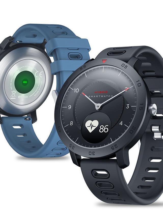 Zeblaze Hybrid Unisex Smartwatch Android iOS Bluetooth Waterproof Heart Rate Monitor Blood Pressure Measurement Calories Burned ECG+PPG Timer Pedometer Sedentary Reminder Temperature Display