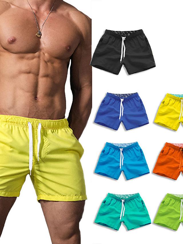 Men's Swim Shorts Swim Trunks Bottoms Quick Dry Micro-elastic Drawstring - Swimming Water Sports Solid Colored Summer