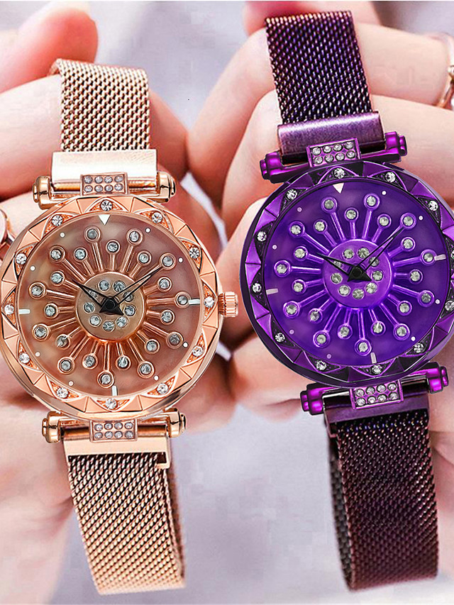 Women's Quartz Watches Quartz Stylish Fashion Casual Watch Black / Blue / Purple Analog - Rose Gold Black Blue One Year Battery Life