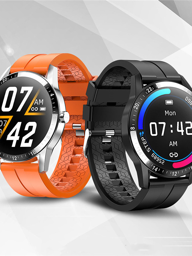 Spovan G02 Unisex Smartwatch Android iOS Bluetooth Waterproof Heart Rate Monitor Blood Pressure Measurement Calories Burned ECG+PPG Timer Pedometer Activity Tracker Sleep Tracker