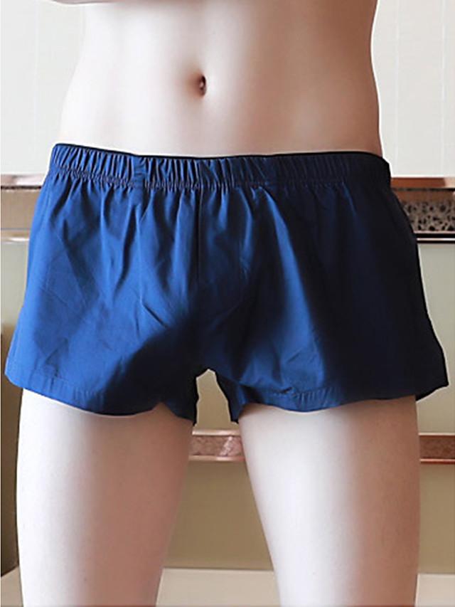 Men's Basic Boxers Underwear - Normal Low Waist Light Blue Red Yellow M L XL